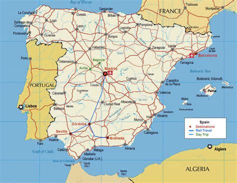 printable map portugal printable map of spain