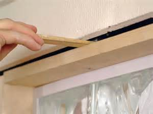 how to put a door in a glass door how to install glass blocks in a bathroom wall how tos diy
