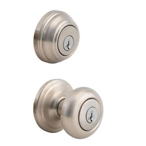 External Door Knob by Kwikset Juno Satin Nickel Exterior Entry Knob And Single