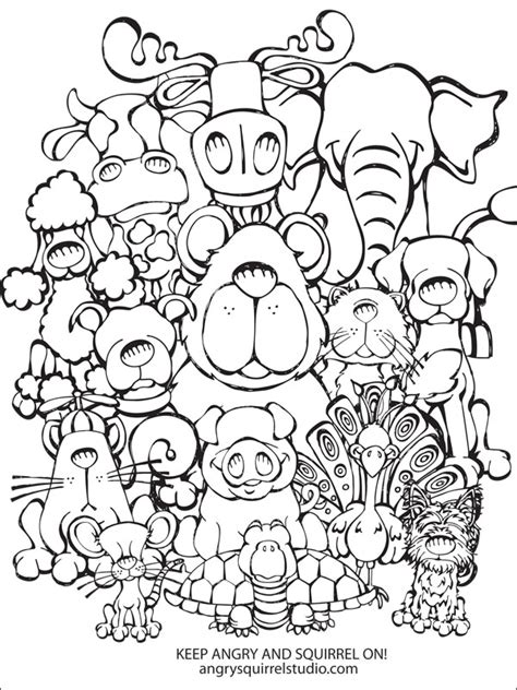 Collage Coloring Pages collage free coloring pages