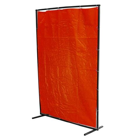welding curtain frame amber pvc curtain frame and mounting rings ready to use