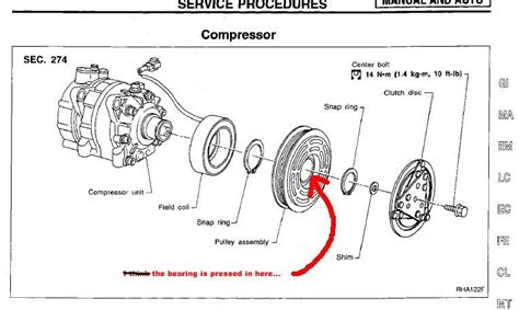noisy ac compressor repair pulley bearing vqpowercom