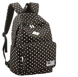 Backpack black white polka dots backpack pattern backpack polka dot