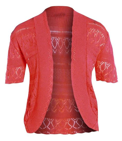shrug knitting patterns uk new womens crochet knitted bolero shrug cap sleeve
