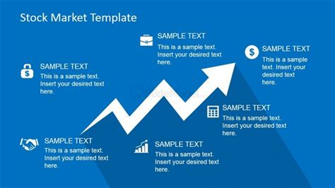 ppt templates free download stock market clipart arrow trending up with financial icons slidemodel