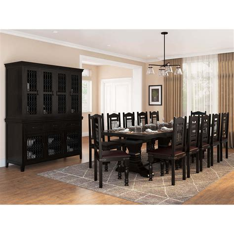 harold traditional solid wood  piece dining room set