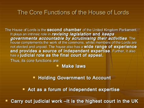 the house of lords is which house of parliament the house of lords functions