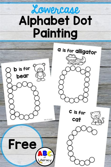 lowercase alphabet dot painting free printables