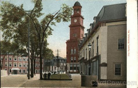 city square biddeford me postcard