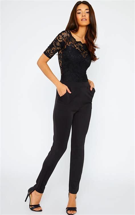 lace jumpsuit dressed up