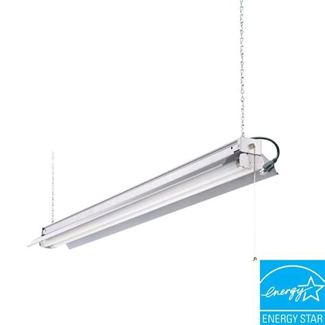 Ceiling Shop Lights Lithonia Lighting All Season 4 Ft 2 Light Grey T8 Fluorescent Shop Light 1242zg Re The