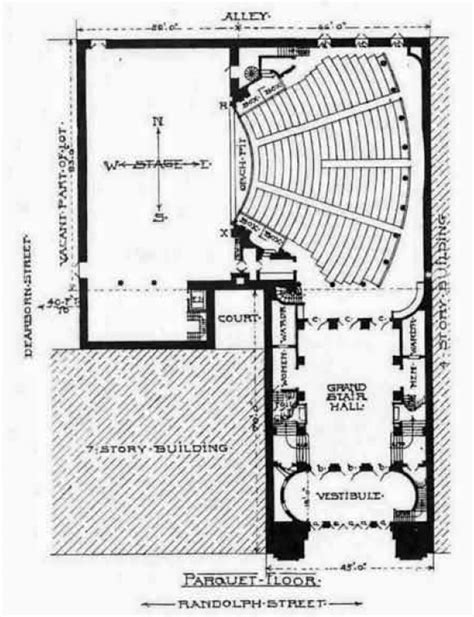 chicago theater floor plan iroquois theatre fire
