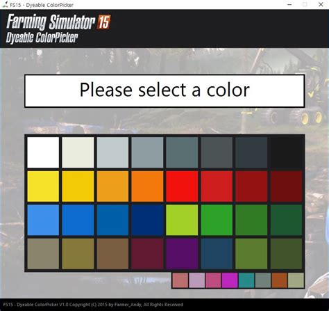 Ls Shades by Dyeable Color Picker Ls15 Windows Tool Mod Ls 15 Mod
