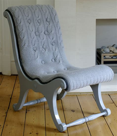Another Word For Chair by The Knitted Chairs Create A World Of Chairs From One Chair