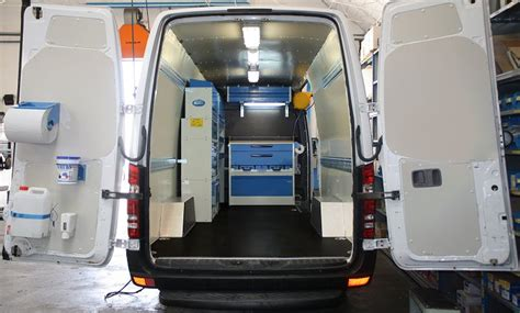 Home Interior Painters upfit of the volkswagen crafter with worktops and shelving