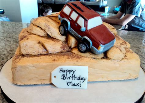 happy birthday jeep cake delectable cakes jeep rock climbing birthday cake