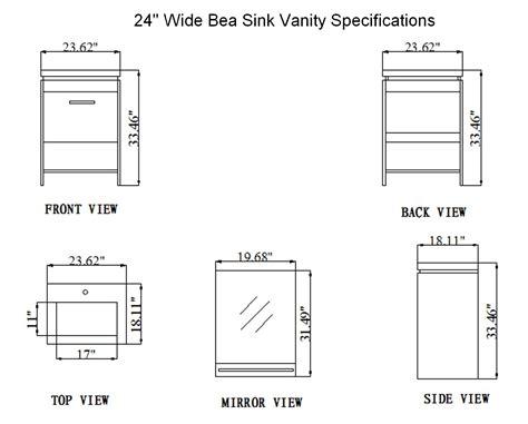 Vanity Cabinet Dimensions by 24 Inch Bea Vanity Space Saving Vanity