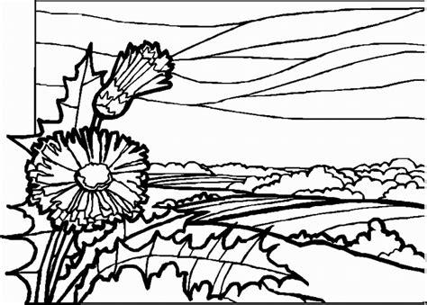 landscape coloring pages landscapes coloring pages