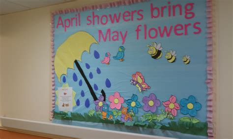 educational themes for april april showers bring may flowers bulletin board april