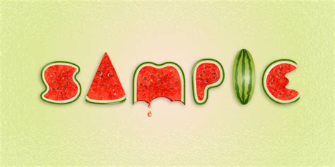 tutorial illustrator fruit use brushes to create a watermelon text effect in illustrator