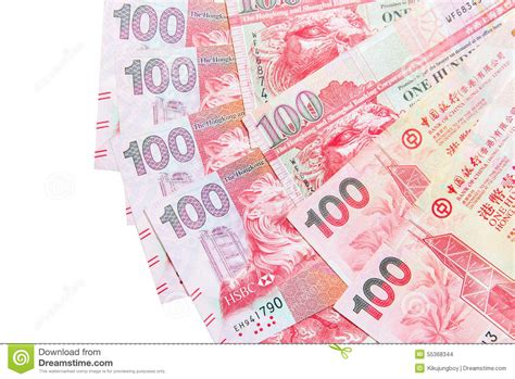 currency hkd hong kong dollar currency stock photo image 55368344
