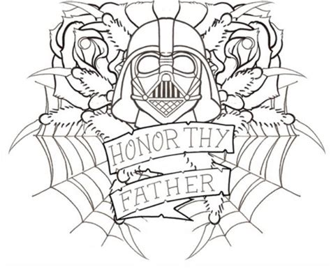 star wars father s day coloring page vader quot honor thy father quot embroidery patterns pinterest