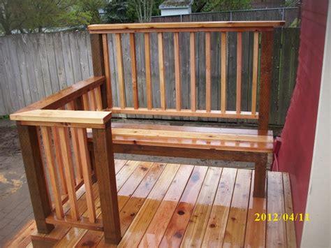 cedar deck bench cedar deck with built in bench deck masters llc