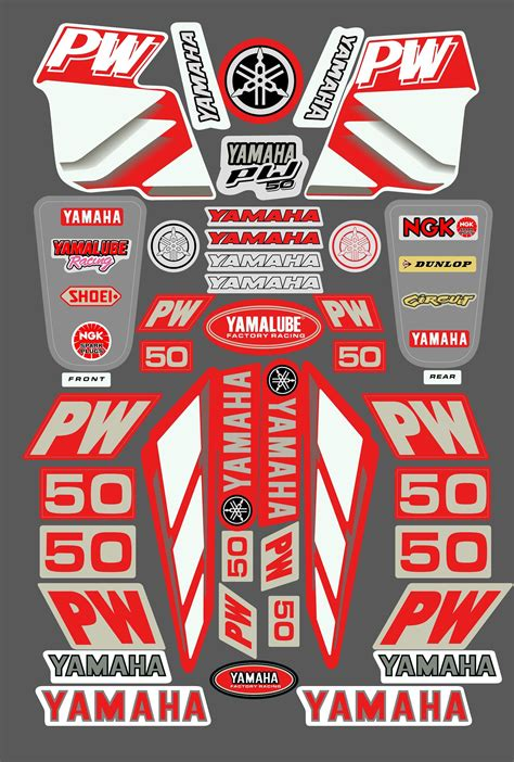 Sticker For Yamaha Pw50 by Yamaha Pw50 Sticker Kit Red