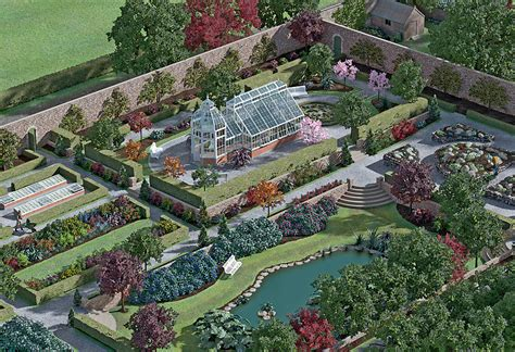 Victorian Home Design by Victorian Walled Garden And Glasshouse Illustration Bob