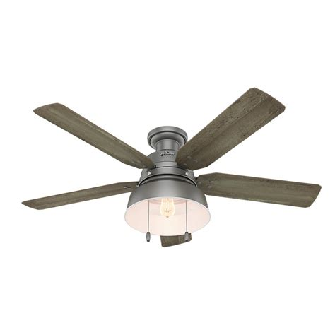 east valley fans and blinds hunter mill valley 52 in led outdoor low profile matte