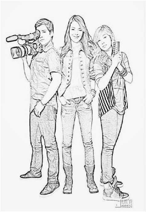 Free Jennette Mccurdy Coloring Pages Icarly Coloring Pages To Print