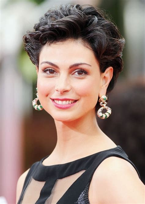hot short haircuts for curly hair morena baccarin hairstyle sexy short tousled curly