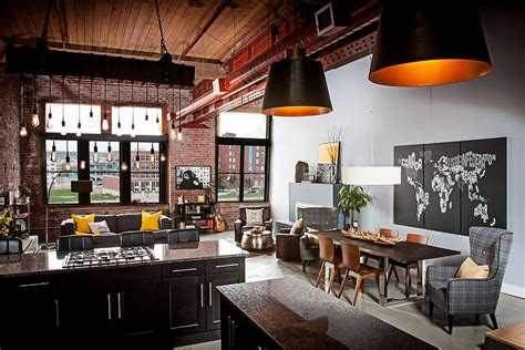 anderson kansas city industrial living room kansas dashing urban loft uses contrasting textures to create