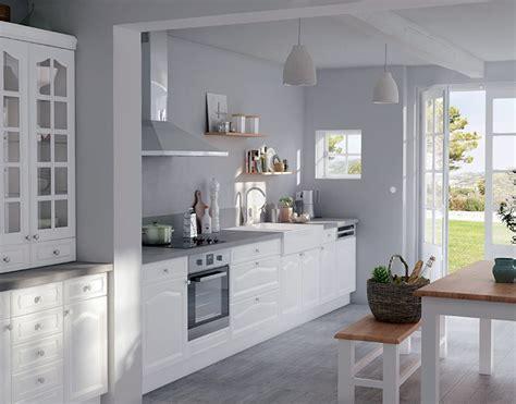 meuble blanc cuisine meuble de cuisine authentik blanc castorama
