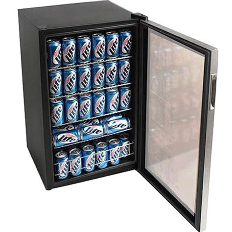 Compact Beverage Refrigerator Glass Door Beverage Drink Cooler Compact Glass Door Refrigerator Soda Wine Mini Fridge 854502001764 Ebay
