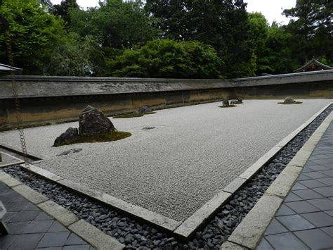 sabbia giardino zen ryoan ji il giardino zen di pietre e sabbia mitico