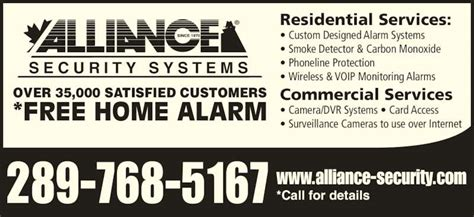 alliance security systems 2355 derry rd e mississauga on