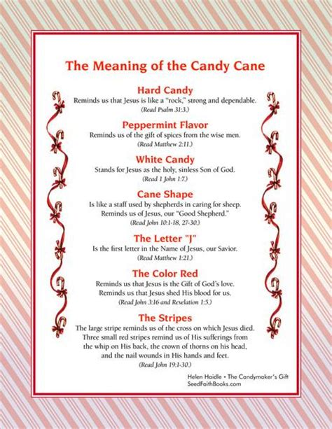 printable version of the legend of the christmas spider meaning of the candy cane pdf seed faith books