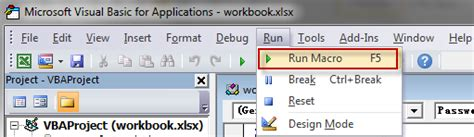 remove excel vba password using hex editor remove excel workbook password using vba excel remove
