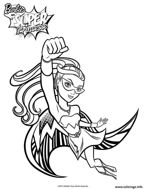 super barbie coloring page coloriage barbie princesse super paillette dessin super