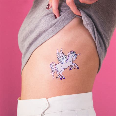 hologram tattoo tattoonie holographic laser unicorn tattoonie temporary