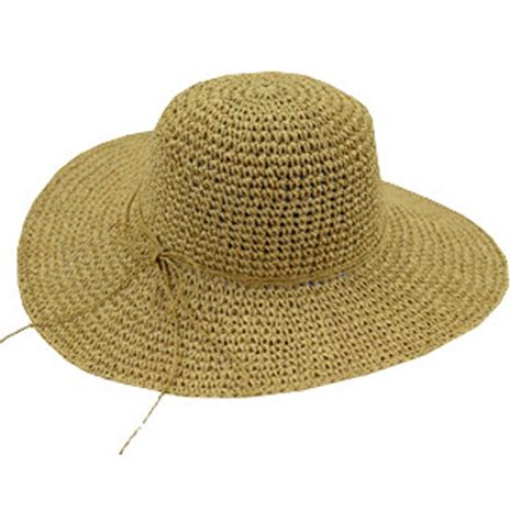 Handmade Straw Hats - summer fashion handmade crochet sun hat straw