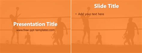 volleyball ppt template free powerpoint templates