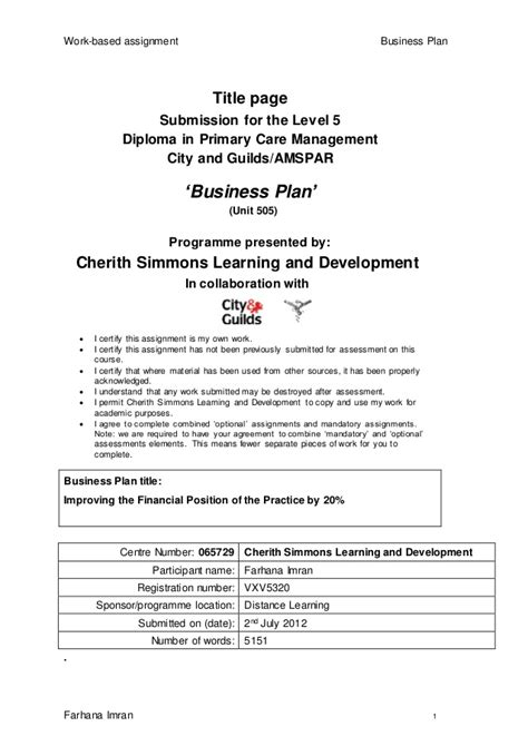 business proposal cover page pics of for plan title sheet 1