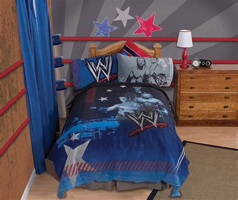 wrestling bedroom 3pc wwe ringside twin single sheet set gray wrestling