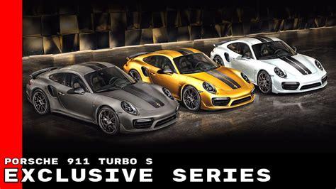 porsche exclusive series porsche 911 turbo s exclusive series