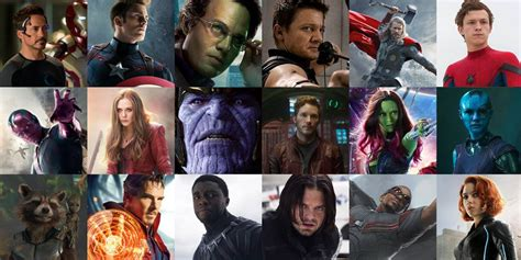 list of marvel actors how many movies left on mcu actors contracts screen rant