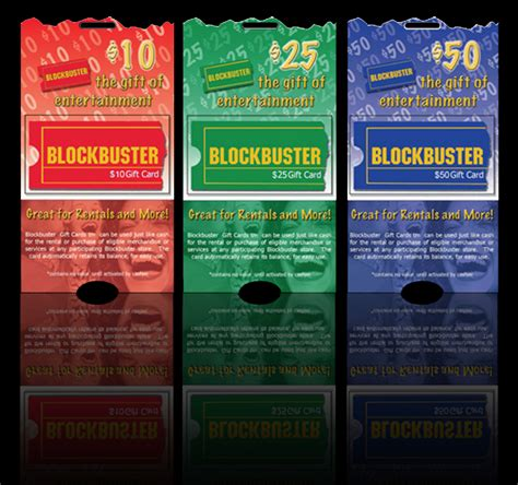 Blockbuster Gift Cards - amayzn designs portfolio graphic design print design web design