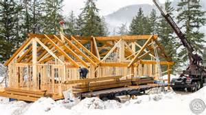 Post And Beam Home Plans scissor truss timberframe assembly youtube