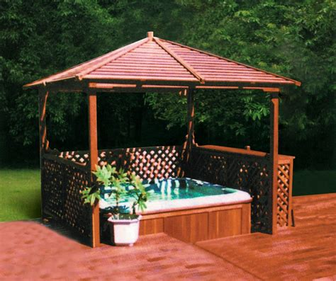 spa gazebo tubs gazebo ps wood arbor m 903 spas shelter ps canopy